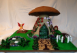 Barbara Wilson - Gingerbread fairy mushroom house