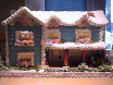 Blue Farmhouse Gingerbread House by Loreta Wilson