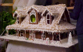 Magnificent gingerbread house by Leon Cretel