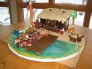 Santa's Boat Dock - gingerbread display by Katie Hartwell