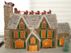 Sweet classic gingerbread house by Laura Evans