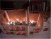 Loreta Wilson - Cal Young Gingerbread House - Lights