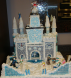 Frosty's Fortress - decorated inside and out by Laurie Cagle Ethridge