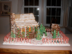Entirely edible log cabin and outhouse by MaryLou Bullerman