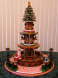 Festive Fountain - Santa makes a wish for a Merry Christmas by Barb Amabile