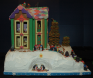Award: Best Use of Characters on a Gingerbread Display - 02 BRRR... IT'S COLD OUTSIDE! Nativity