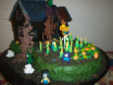Minion Haunted House BD cake
